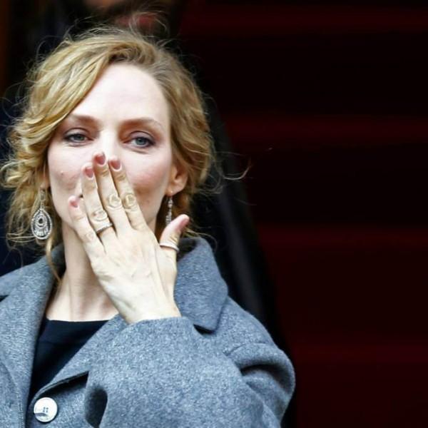 Uma Thurmann bei der Berlinale 2014 - sie ist 43 und eine der schönsten Frauen für mich!